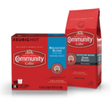 ENJOY $1.50 OFF ANY BAG or K-CUP® BOX of Community Coffee